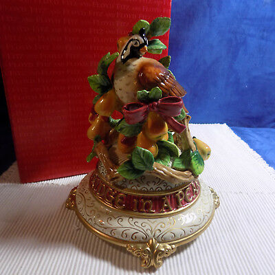 Fitz & Floyd 12 Days Of Christmas Partridge In A Pear Tree Musical Figurine