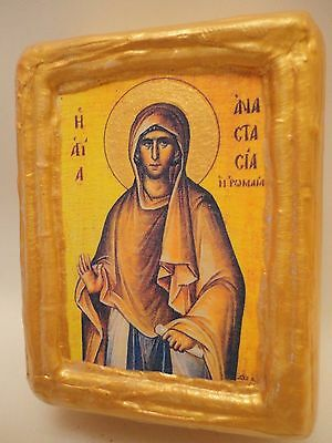 Saint Anastasia The Roman Byzantine Greek Eastern Orthodox Religious Icon Block