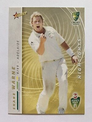 Australian Test Team Highlights Select 2007 Card #93 Shane Warne