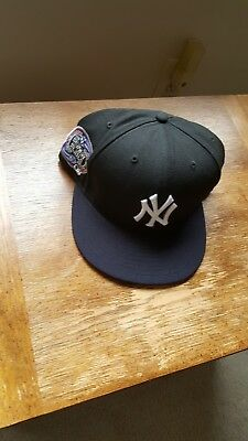 cb15f4455f7 New Era 59Fifty Fitted Baseball Hat Cap NY Yankees Subway Series side patch  Mets