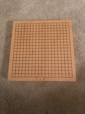 game vintage wooden go board