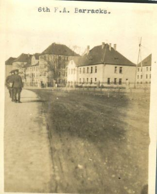 6th Field Artillery Barracks American Forces Germany Coblenz Germany c1920 Photo