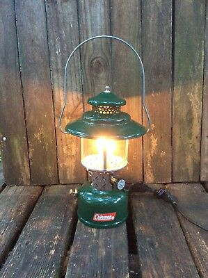 Coleman Lantern 228 Electric Table Lamp Antique Cabin Rustic Christmas Hunting