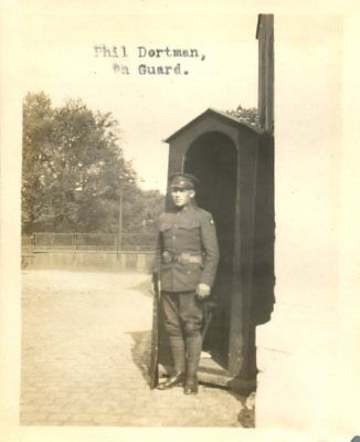 Phil Dortman On Guard, American Forces Germany, Coblenz, Germany c1920 Photo