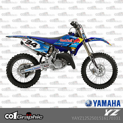 Graphics Decals Stickers Full Kit For Yamaha Yz 125/250 2015-2018