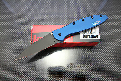 NEW! Kershaw New Leek Knife Black Blade w/Navy Blue Handle Exclusive 1660NBBLK