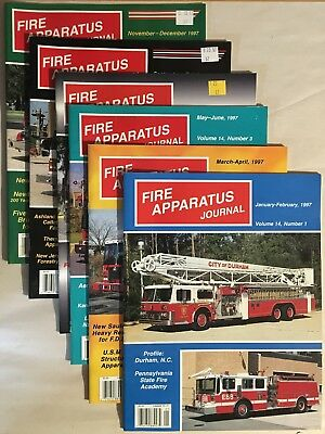 1997 Vol 14 FIRE APPARATUS JOURNAL MAGAZINE complete 6 issues Fire Truck EMS