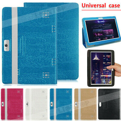AU Universal Folio Leather Stand Cover Case For 10 10.1 Inch Android Tablet PC