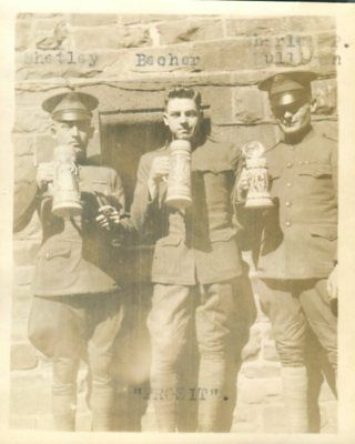 GIs Having A Beer (Steins) American Forces Germany, Coblenz, Germany c1920 Photo