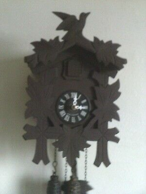 Used Cuckoo Clock : Small 1 Day Germany Black Forest Working......