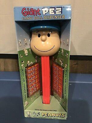 Retired Giant Charlie Brown Pez Dispenser In Box Plays Theme Song