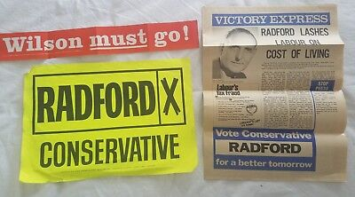 CONSERVATIVE PARTY GREAT BRITAIN 1970 Stockton-on-Tees UK Parliament ELECTION