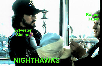 NIGHTHAWKS RUTGER HAUER SYLVESTER STALLONE #2 ORIGINAL 35mm TRANSPARENCY SLIDE