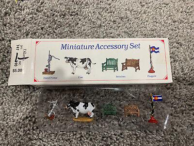 Liberty Falls Collection Set 5 Miniature Accessories Set #ah52 Pewter Colorado