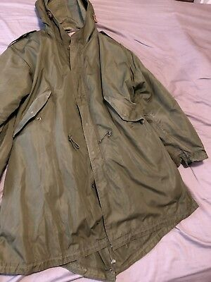 US ARMY M 1951 Fishtail Parka & Liner USED Size Large Excellent Shape Very Clean