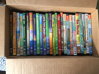 Lot of 26 Kids DVDs – Scooby Doo and Sponge Bob * Episodes and Movies