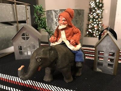 German Santa Elephant Candy Container