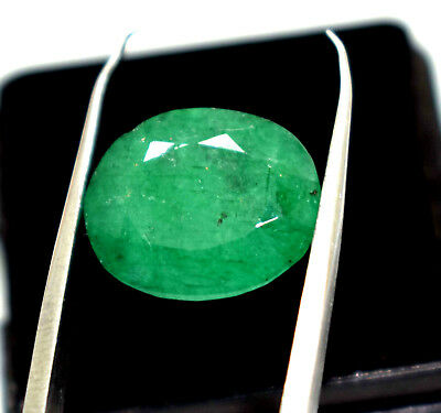 Nice 6.10  Ct Oval Cut Natural Green Emerald  Panna  Ggl Certified Hurry Now