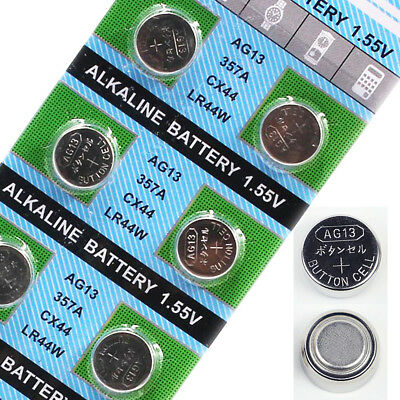10Pcs AG13 LR44 1.55V L1154 CX44 357A Button Cell Coin Battery for Watch Toys