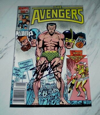 Avengers #270 VF+ 8.5 Unrestored 1986 - Stan Lee & John Buscema signed