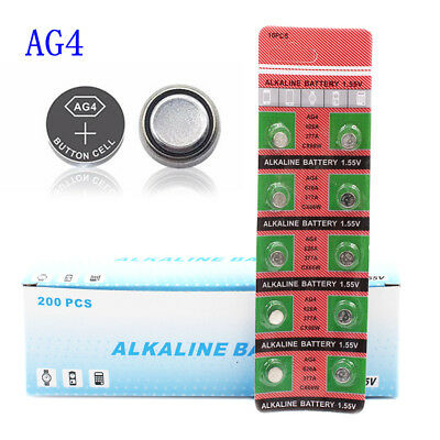 10Pcs AG4 LR626 377A C66 1.55V Button Cell Coin Battery Batteries for Watch Toy