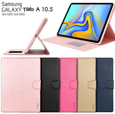 "For Samsung Galaxy Tab A 10.5"" T590 Hanman Slim leather wallet Smart Cover Case"