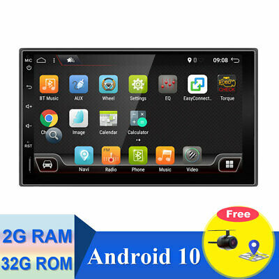 Android 7.1 Double Din Car Stereo Radio GPS Wifi 4G OBD2 HD Mirror BT SWC+Cam