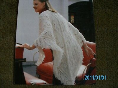 Knitting Pattern for Ladies Poncho in Chunky Yarn