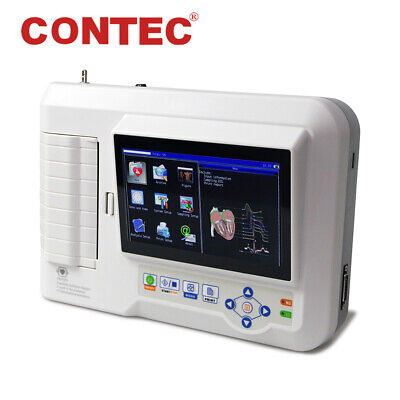 CE Touch Screen Digital 6-Channel 12-lead ECG/EKG Machine Electrocardiograph+USB
