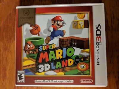 Super Mario 3D Land Case and Inserts Only, NO GAME