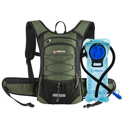 Miracol Hydration Backpack With 2L Water Bladder, Thermal Insulation Pack Keeps