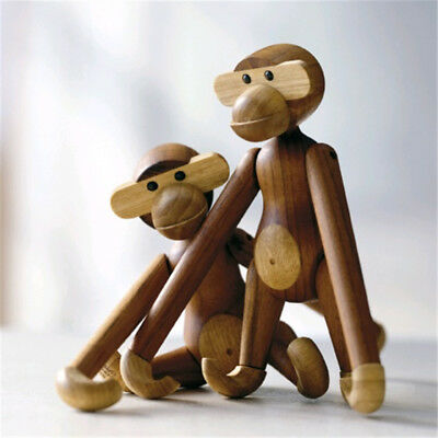Danmark Style Wooden Monkey Doll Toys Figurine Home Ornaments Room Decorations