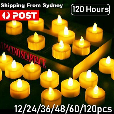 Battery Operated LED Tea Lights Candles Flameless Flickering Electric Tealight A