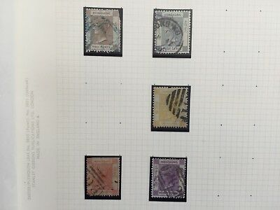 Hong Kong incl better values stamps from British Commonwealth