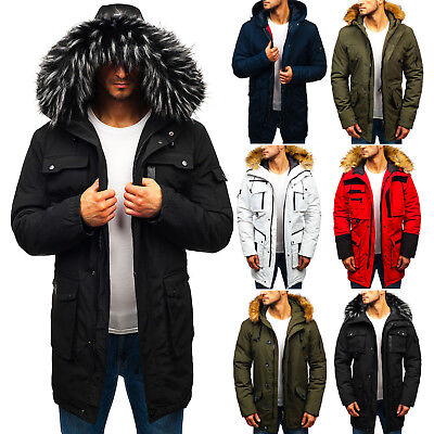 BOLF Winter Jacket Puffer Lined Coat Bubble Quilted Hooded Warm Mens 4D4 Faux