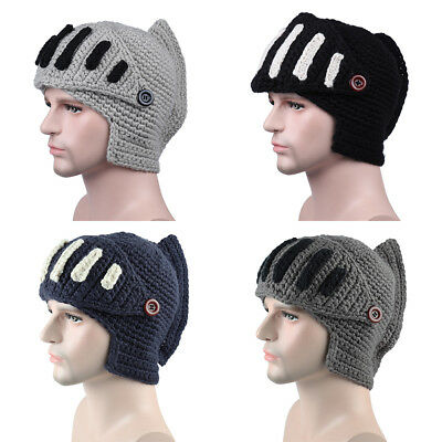 f0c40c9742e Cosplay Ski Beanies Roman Knight Hat Mouth Mask Caps Knitted Gladiator  Helmet UK