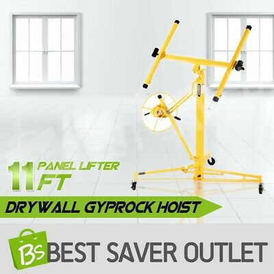 11FT Drywall Panel Lifter Plaster Board Lift Gyprock Sheet Plasterboard Hoist