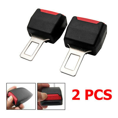 2x Car Seat Belt Clip Buckle Extender Support Safety Alarm Stopper Canceller UK