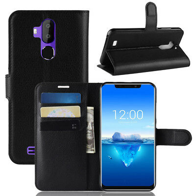 For Oukitel C12 Pro Luxury Magnetic PU Leather Flip Wallet Case Stand Cover