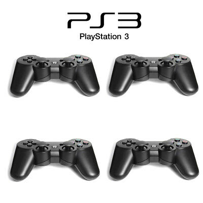 4x Black Wireless Bluetooth Game Controller Pad For Sony PS3 Playstation 3