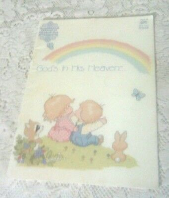 """""""GOD'S IN HIS HEAVEN"""" Religious CROSS STITCH pattern booklet (VINTAGE / 1983)"""