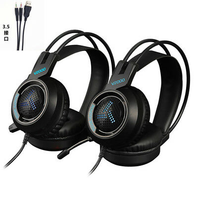 Cuffie Auricolare Gaming da Gioco Headsetper Microfono LED per PC PS4 Xbox One