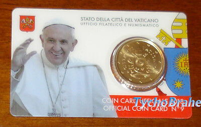 COIN CARD 2018 VATIKAN 50 cent WAPPEN KMS Coincard COAT OF ARMS PAPST VATICAN BU