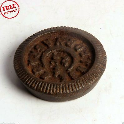 1850's Indian Antique Hand Crafted Iron Mercantile Measuring Weight  Seer 4270