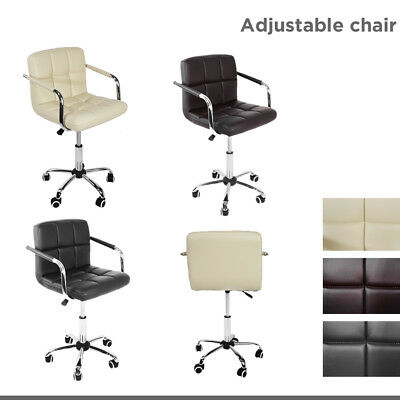 Modern Office Computer Chair PU Leather Swivel Work PC Seat Height Adjustable