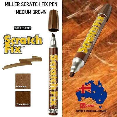 Miller Scratch Fix Pen Medium Brown Furniture Touch Up Marker Pen