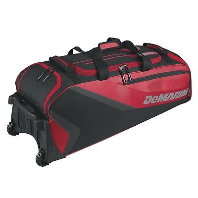 (Scarlet) - DeMarini Grind Wheeled Bag. Shipping Included