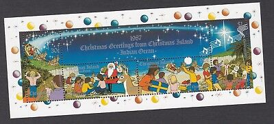1987 CHRISTMAS ISLAND - XMAS ISSUE MINI SHEET - SANTA REINDEER'S etc   UM MUH
