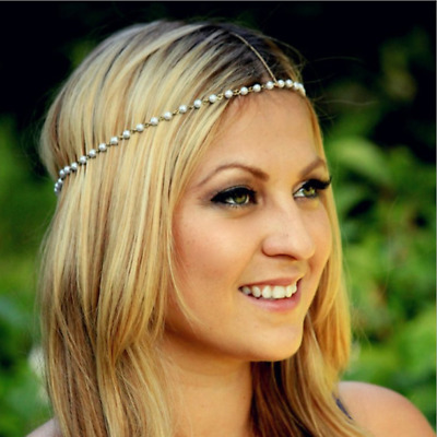 Boho Festival Crystal Hair Chains Head Piece Hair Jewellery Head Chains 4960 Clothing, Shoes & Accessories Jewelry & Watches