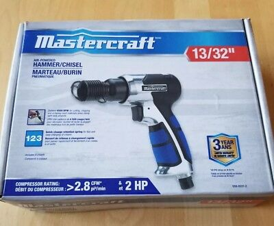 """Mastercraft Air-powered Hammer Chisel 13/32"""" NEW in box."""